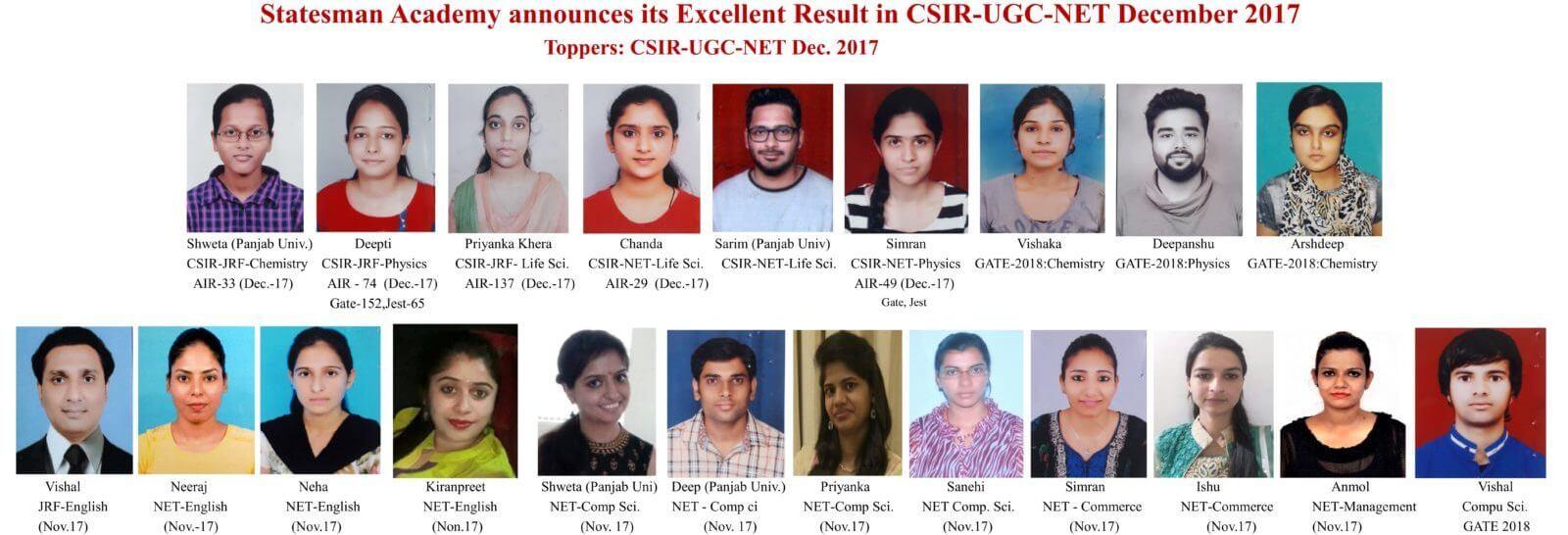 csir net life science coaching in chandigarh statesman academy
